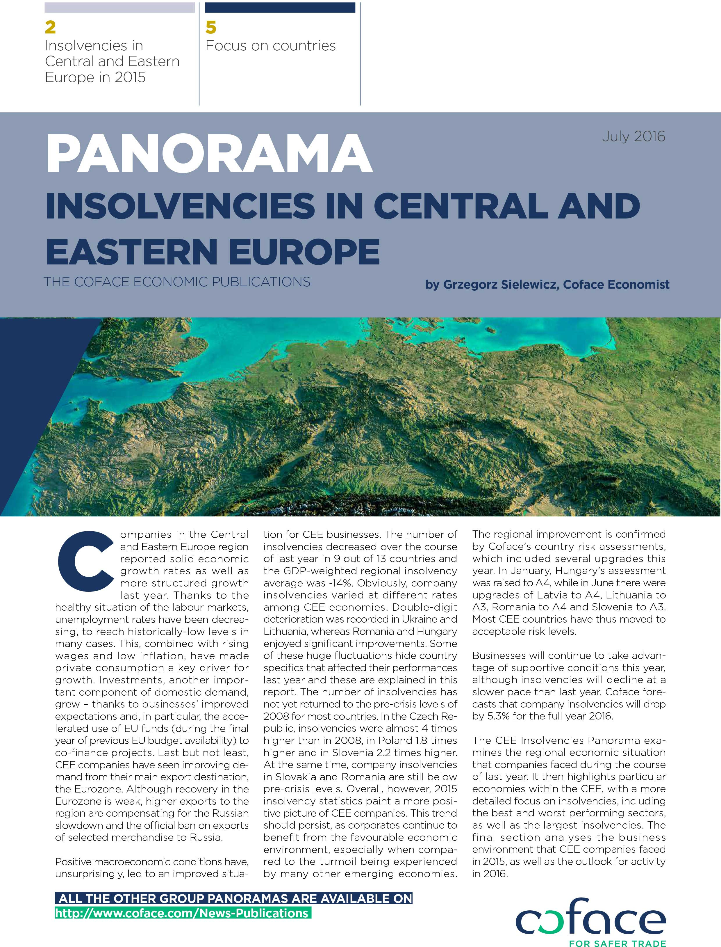 Panorama Insolvencies in Central and Eastern Europe