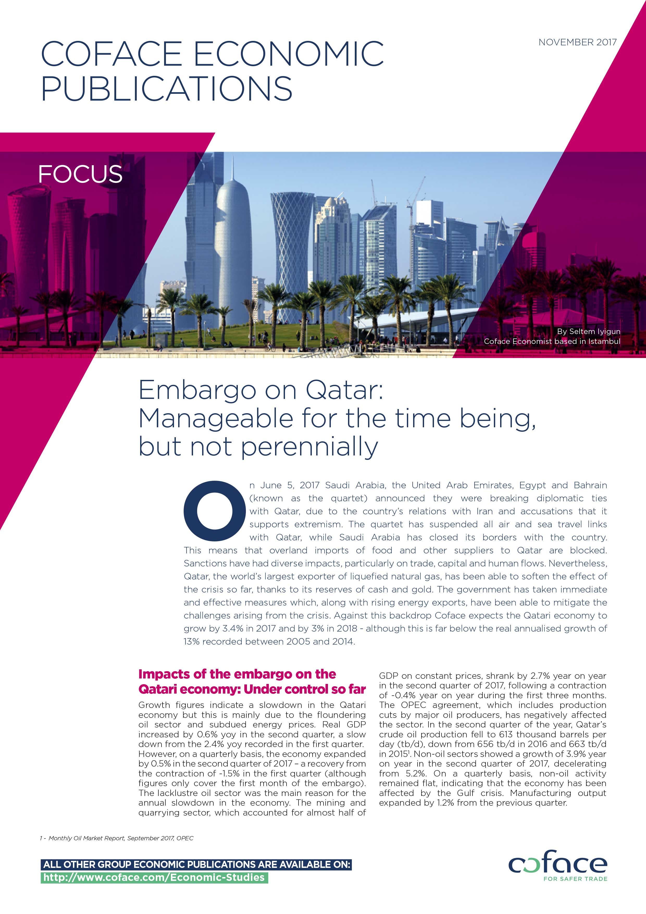 Embargo on Qatar: Manageable for the time being, but not perennially