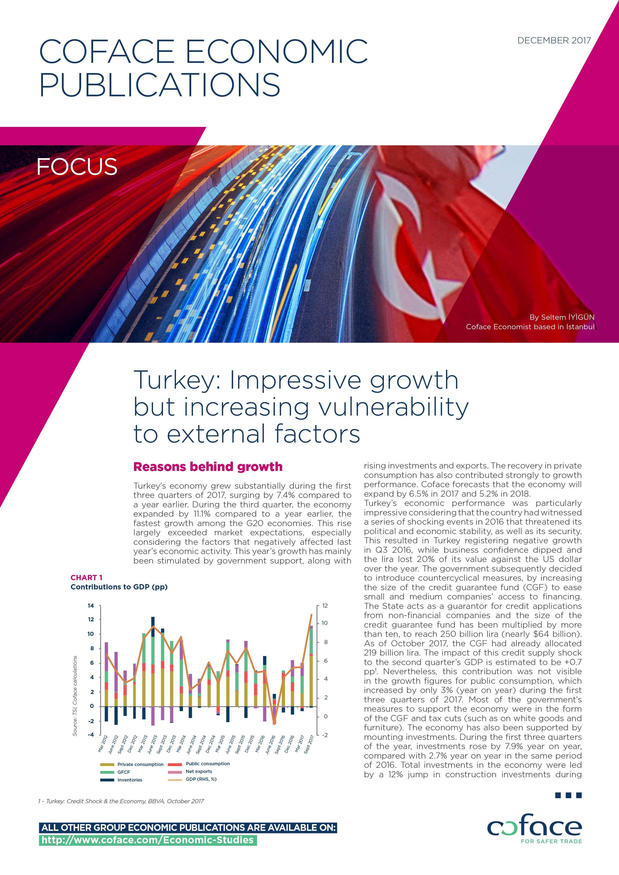 Turkey: Impressive growth but increasing vulnerability to external factors