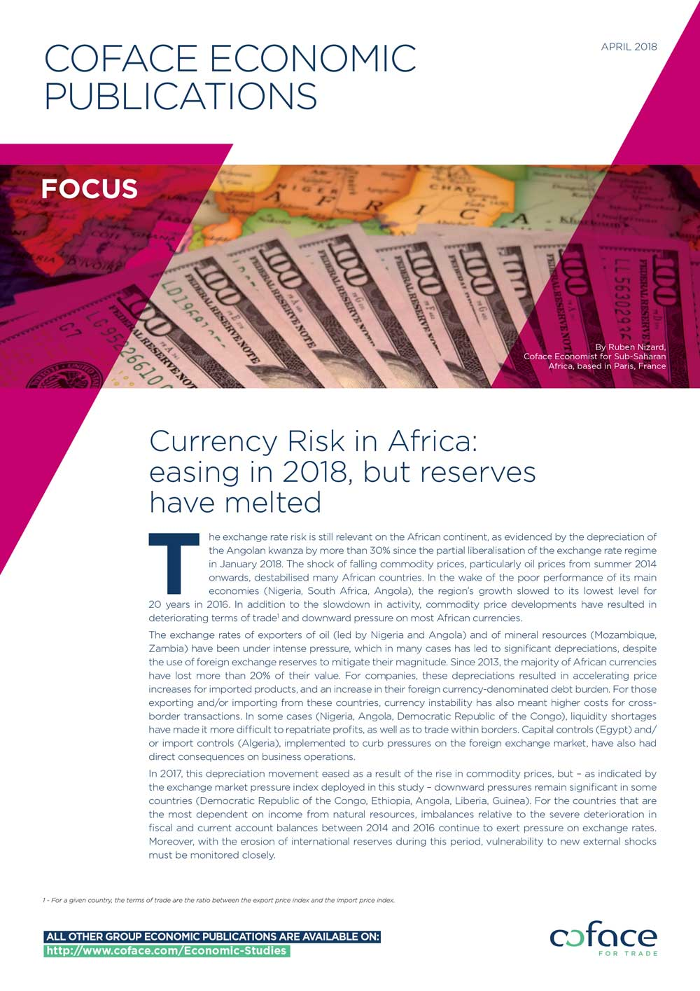 Currency Risk in Africa: easing in 2018, but reserves have melted