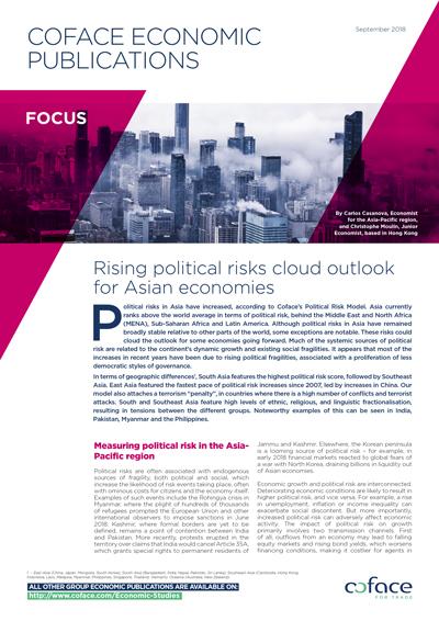 Rising political risks cloud outlook for Asian economies