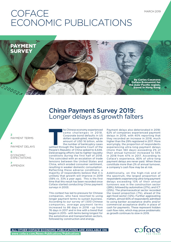 China Payment Survey 2019: longer delays as growth falters