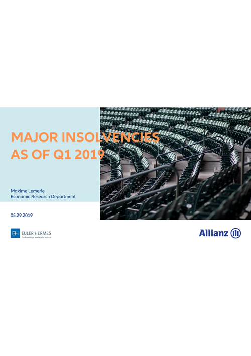 Major insolvencies as of Q1 2019