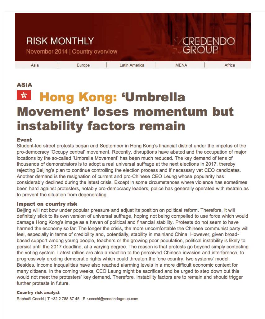 Risk Monthly November 2014 Au Group