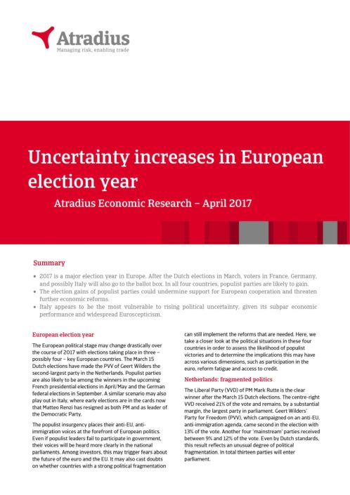Uncertainty increases in European election year