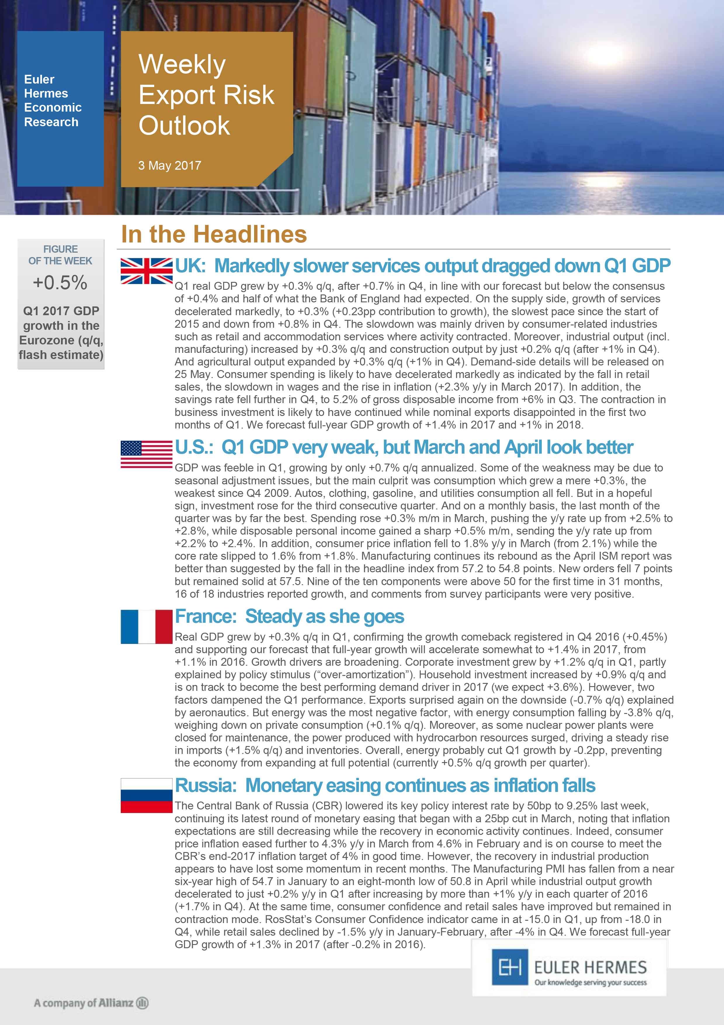 Weekly Export Risk Outlook 03/05/2017