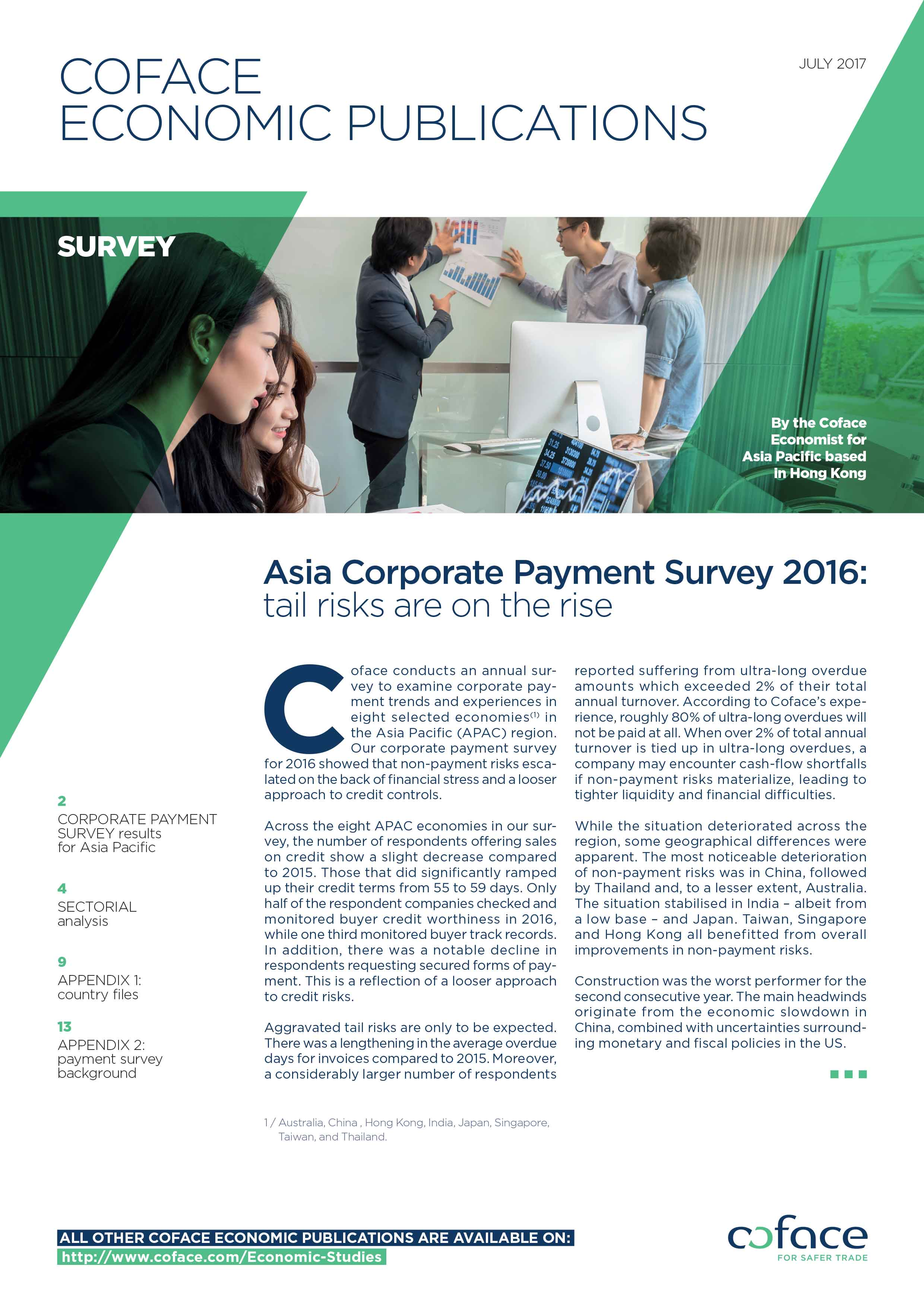 Asia Corporate Payment Survey 2016: tail risks are on the rise
