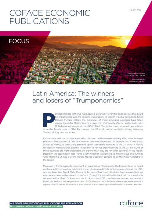 "Latin America: The winners and losers of ""Trumponomics"""