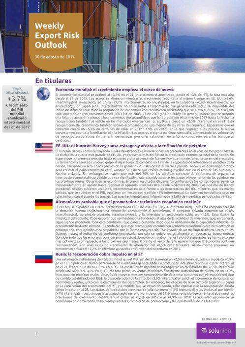 Weekly Export Risk Outlook – 30 de agosto de 2017