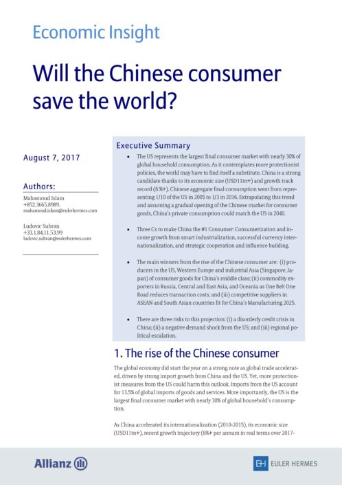 Will the Chinese consumer save the world?
