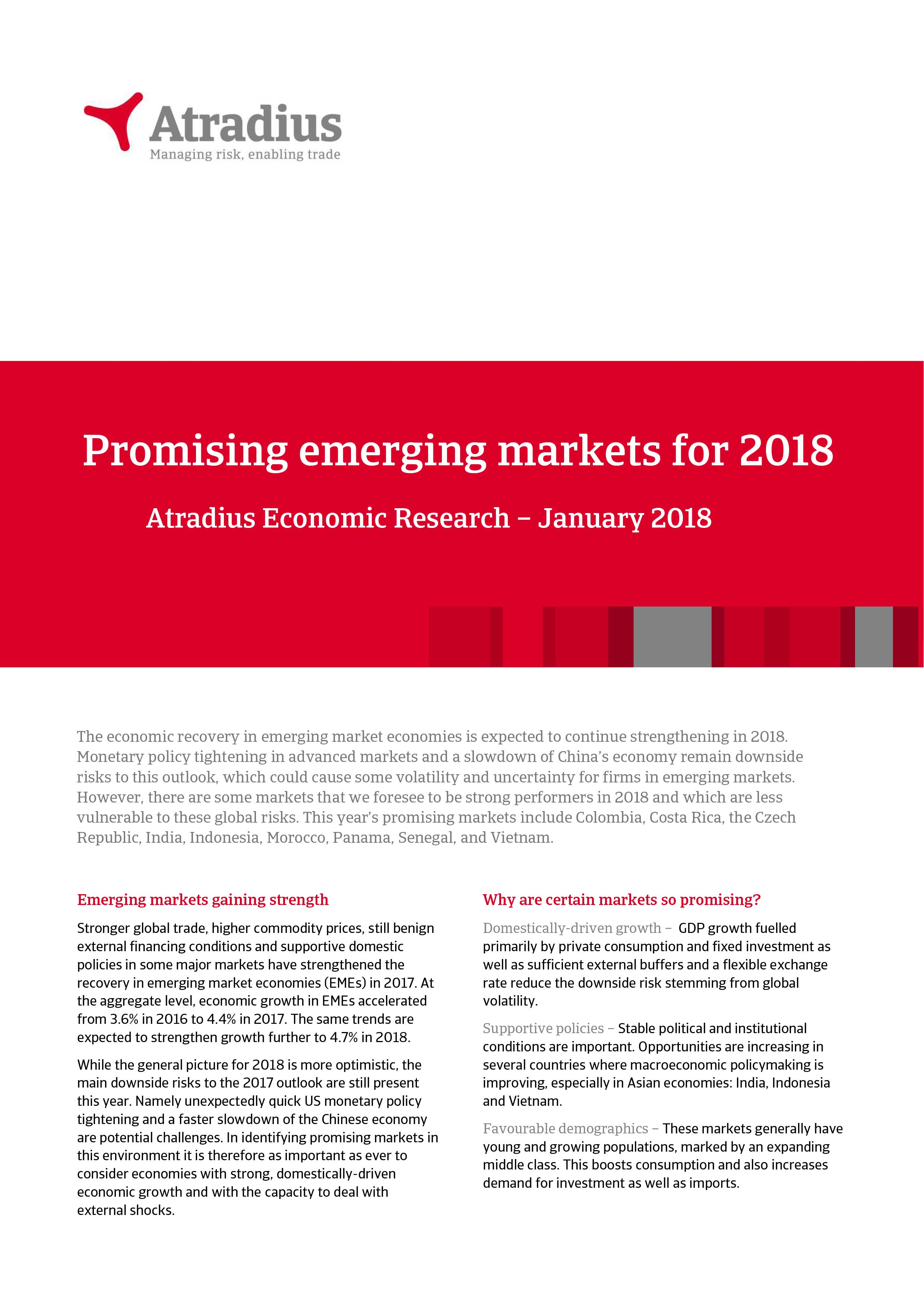 Promising emerging markets for 2018