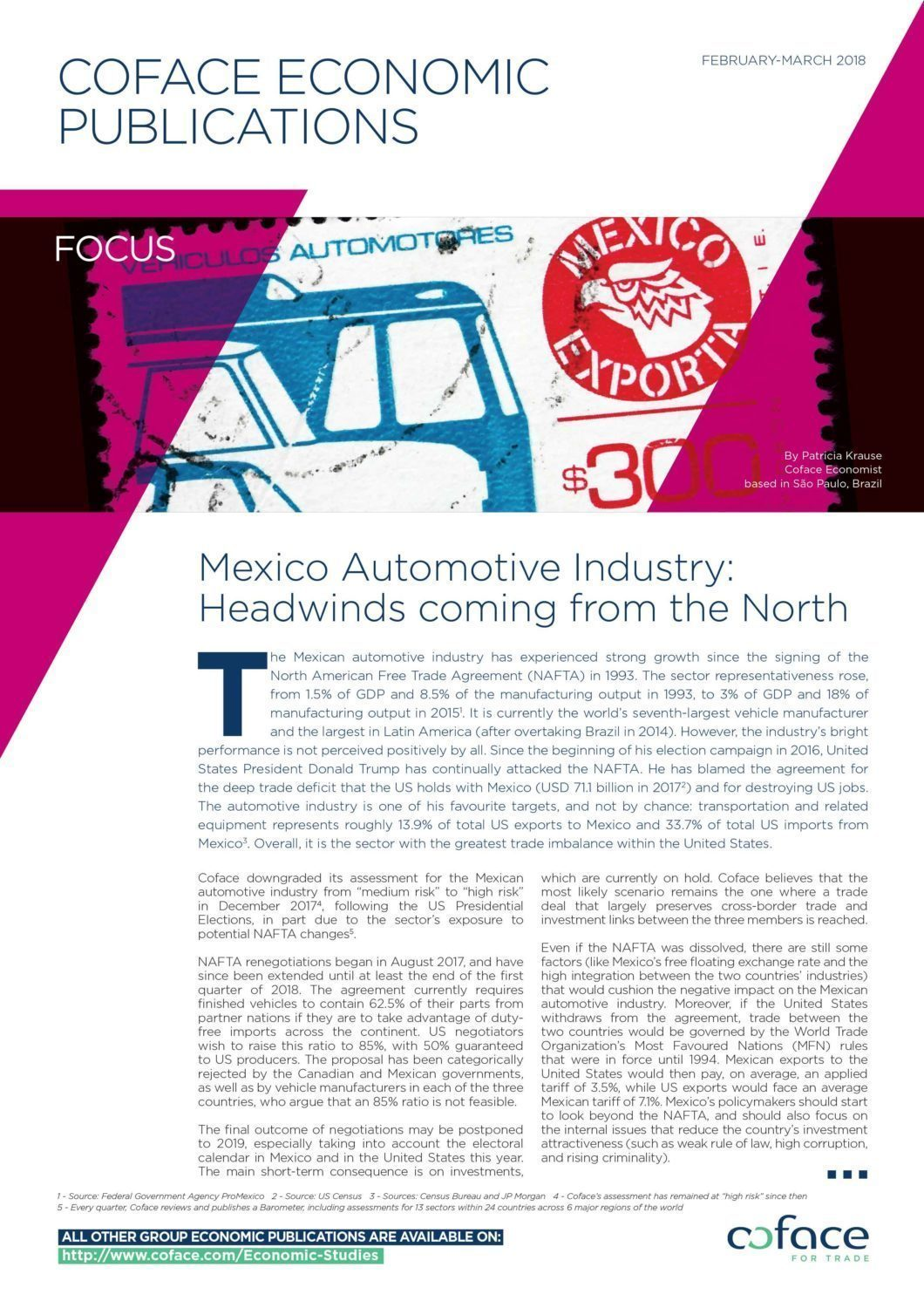 Mexico Automotive Industry: Headwinds coming from the North