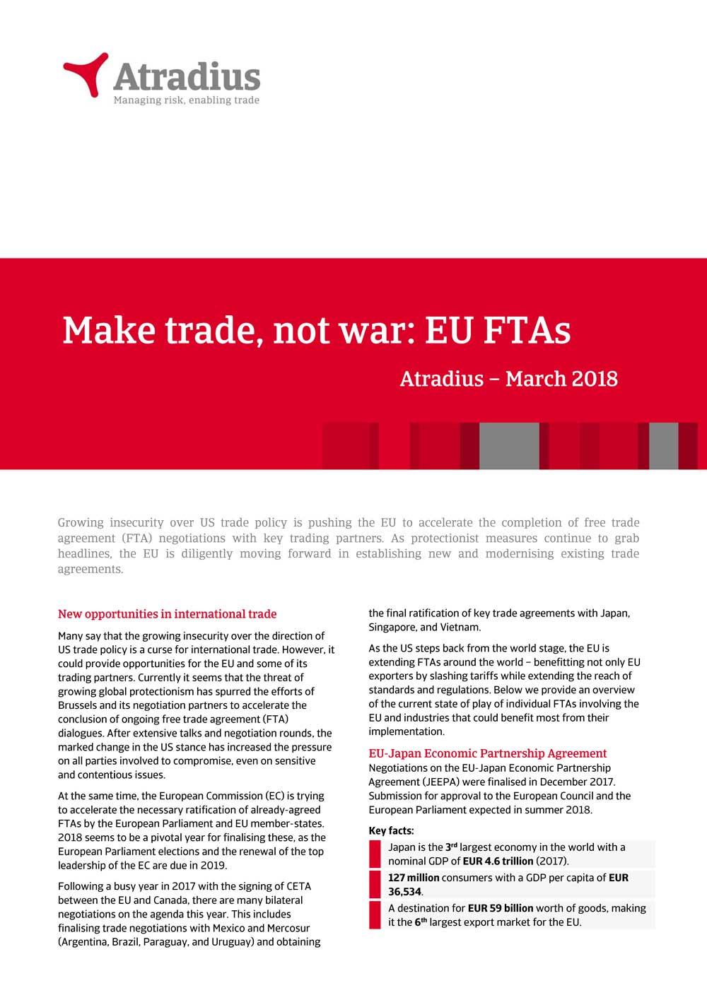 Make Trade Not War Eu Ftas Au Group
