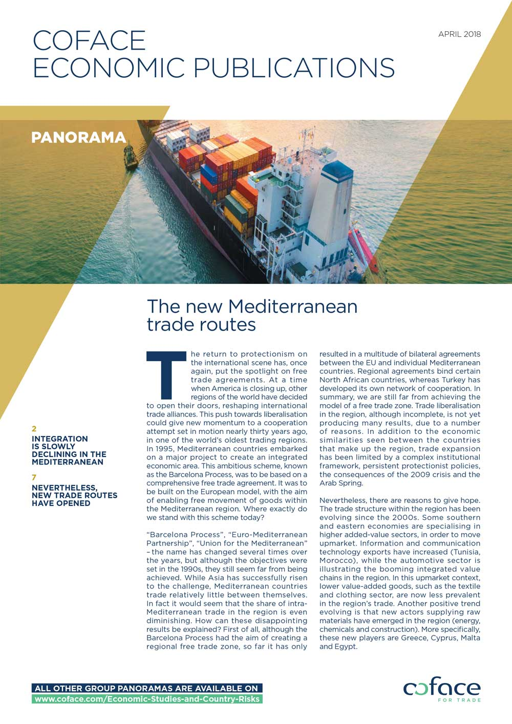 The new Mediterranean trade routes