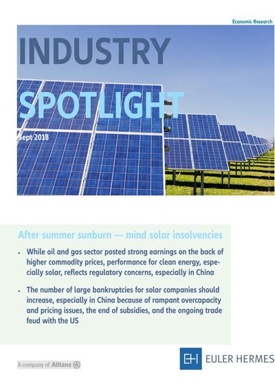 After summer sunburn - mind solar insolvencies