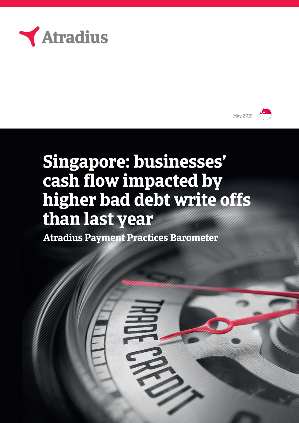 Singapore: businesses' cash flow impacted by higher bad debt write offs than last year