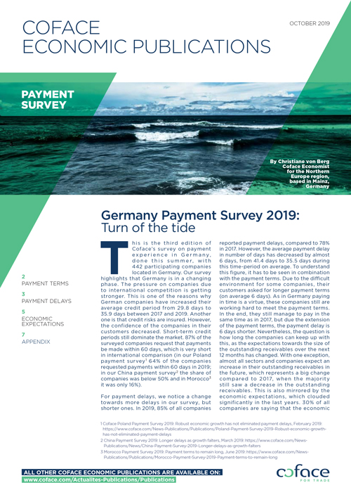 Germany Payment Survey 2019: Turn of the tide