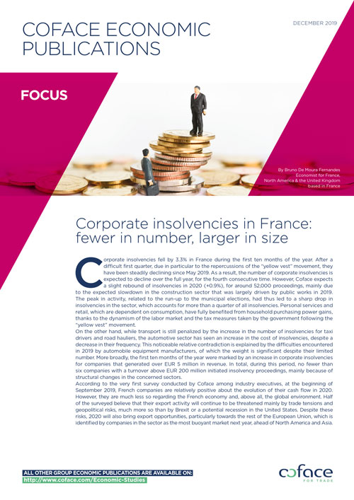 Corporate insolvencies in France: fewer in number, larger in size
