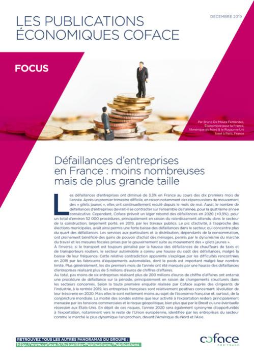 Défaillances d'entreprises en France : moins nombreuses mais de plus grande taille