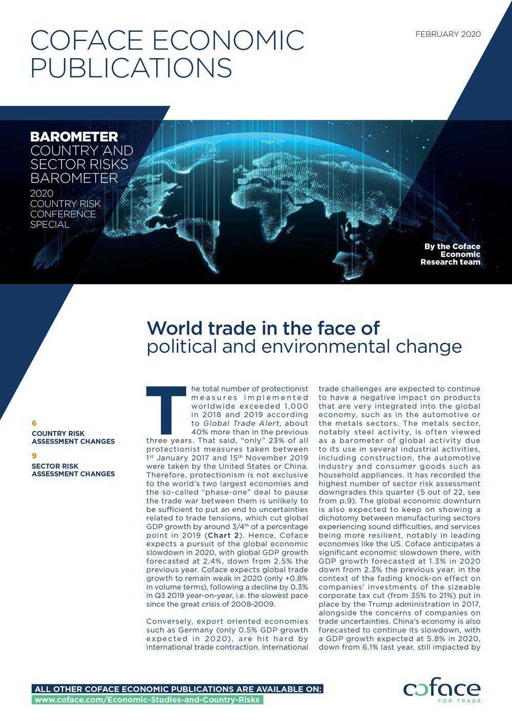 World trade in the face of political and environmental change