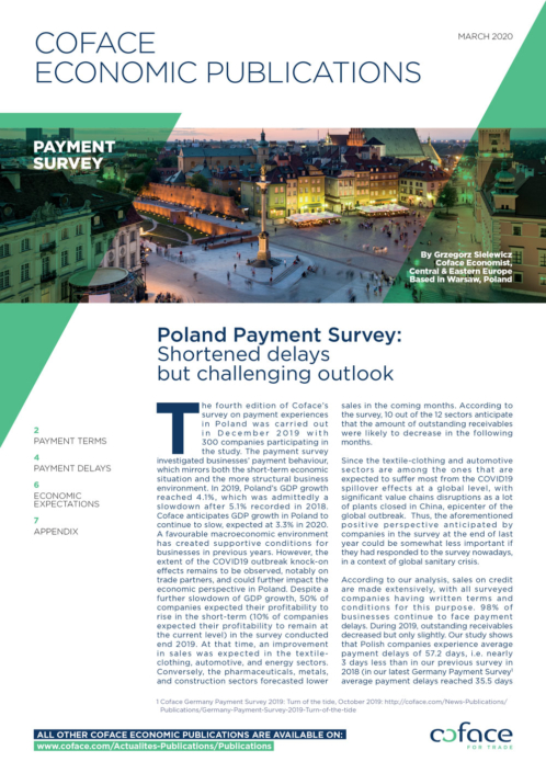 Poland Payment Survey: Shortened delays but challenging outlook