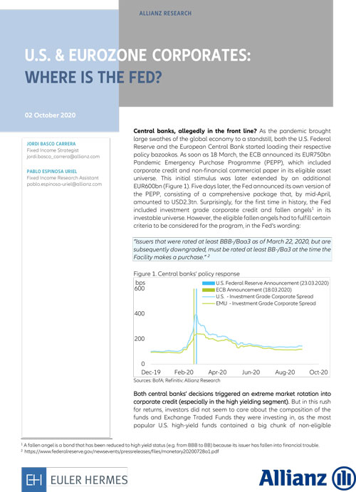 U.S. & Eurozone Corporates: where is the FED?